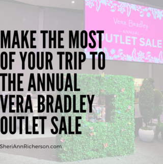 Walking into the Vera Bradley Outlet Sale.