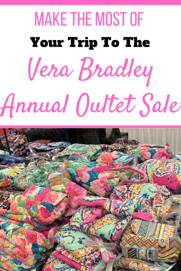 One of the tables inside the Vera Bradley Outlet Sale.