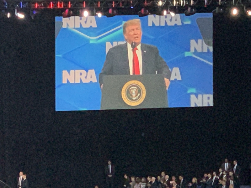 President Trump speaking at the NRA-ILA Forum + Conference.